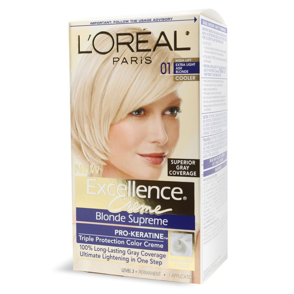 L Oreal S Excellence Creme Hair Color In 01 Extra Light Ash Blonde