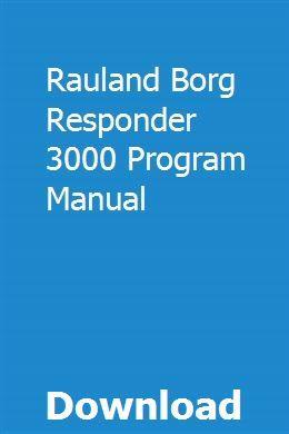 Rauland responder 3000 manual.