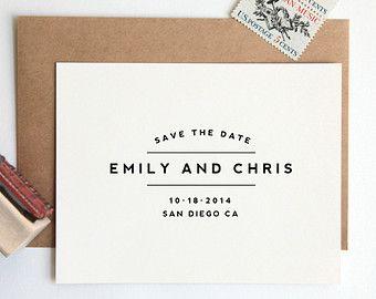 Save The Date Stamp Custom Wedding