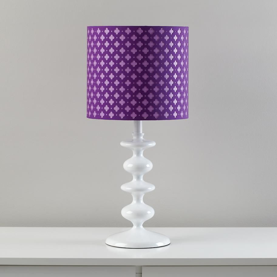 The land of nod kids floor lamps purple clover table lamp shade kids baby furniture bedding and toys table lamp shadeslamp tablepurple aloadofball Images