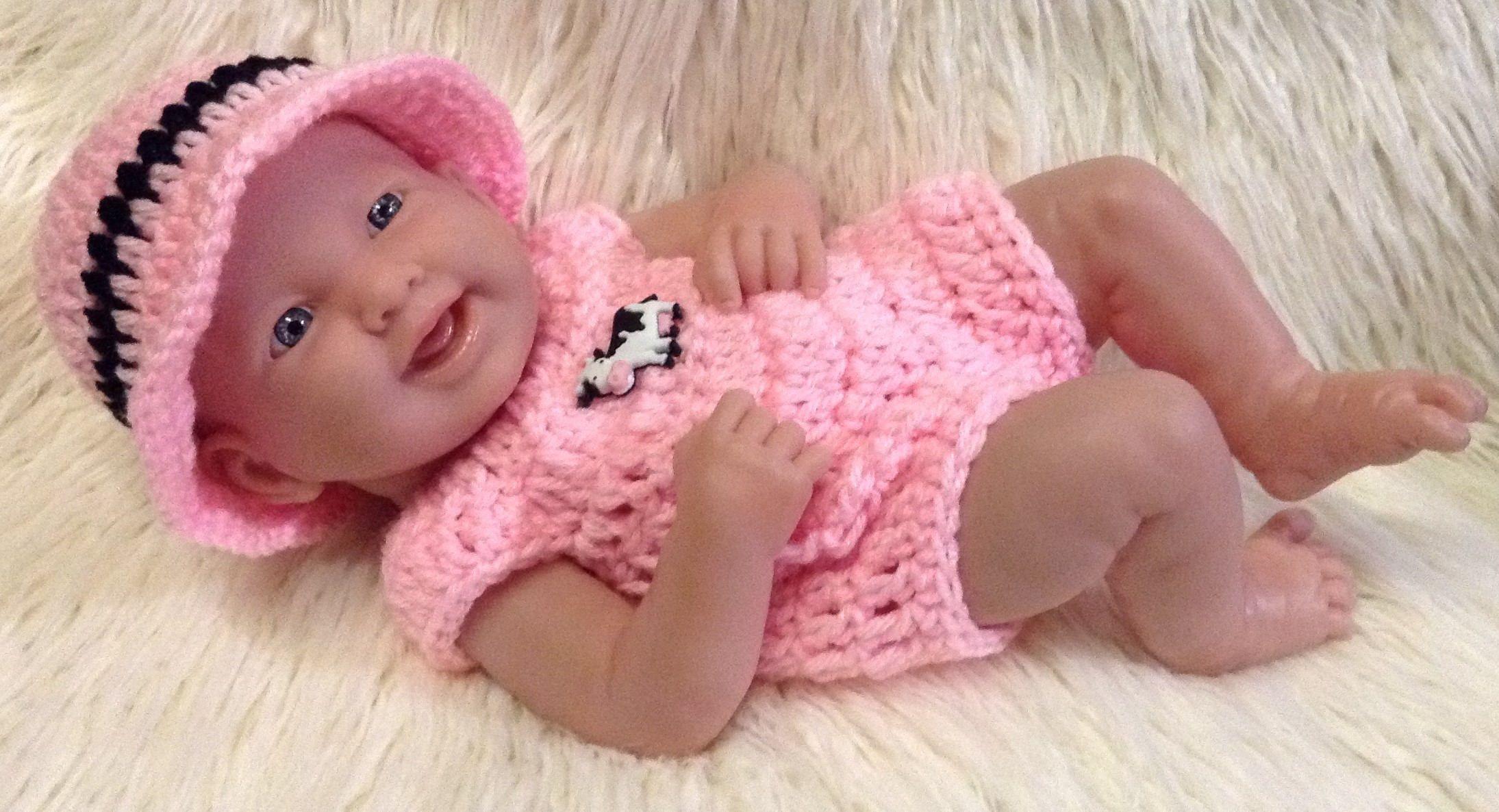 Clothes for berenguer 14 inch la newborn baby crochet
