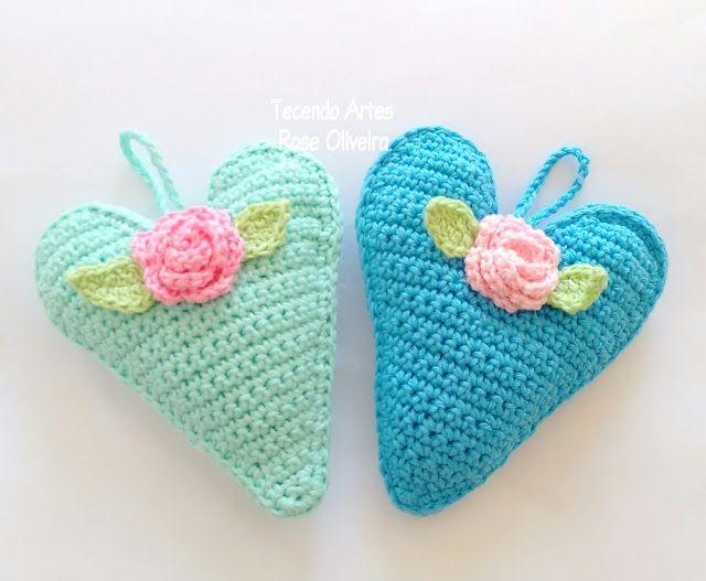 Tecendo Artes em Crochet | Crochet Hearts | Pinterest | Pequeños y Cosas