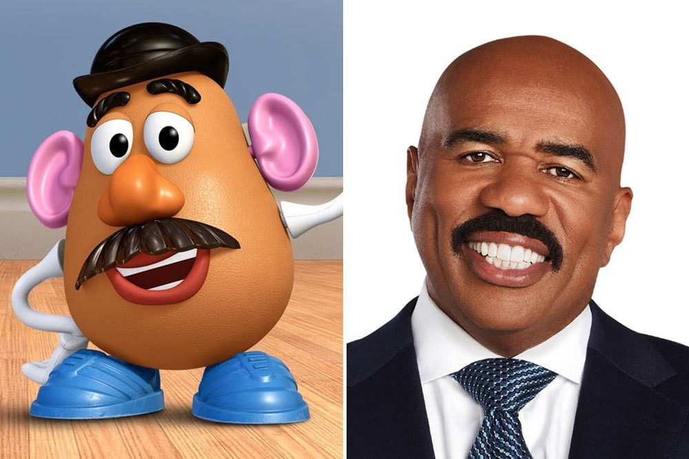 Steve Harvey And Mr Potato Head Deep Memes Animated Characters Disney Memes