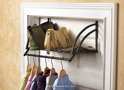 Over The Door Clothing Accessories Storage Shelf Portable Shelves Storage Bedroom Storage