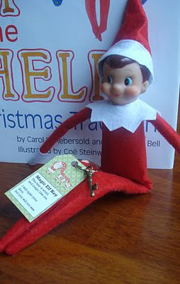 First, Elfie got his own Magic Elf Key... which I ordered from the North Pole.  {wink}  You can read all about it and get your own (free) key-tag printable here.