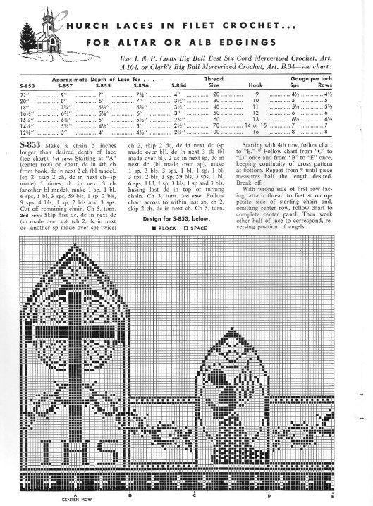Grandmother\'s Pattern Book » Christian Symbols in Filet Crochet ...
