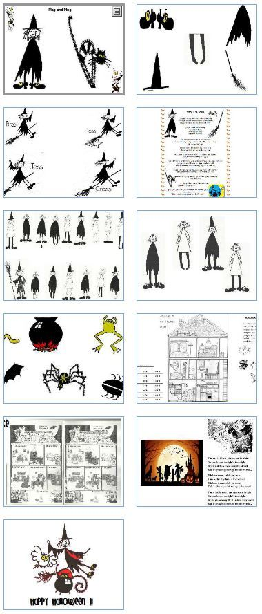 anglais   paperboard sur halloween