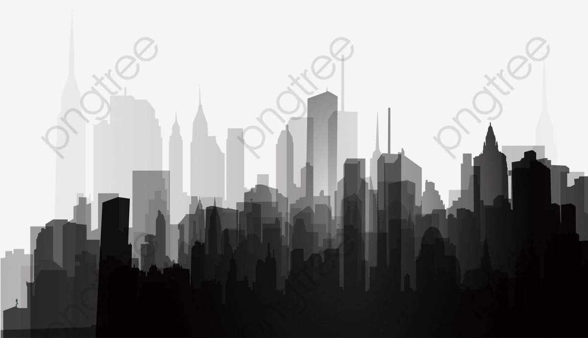 Download This Black And White City Silhouette Black And White City Silhouette Png Clipart Image City Silhouette Black And White Artwork Black And White City