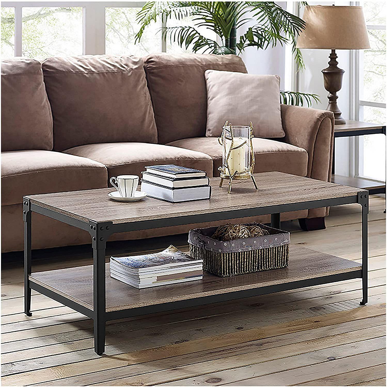Double Decker Storage Shelf Coffee Table Iron Coffee Table Coffee Table Setting [ 1500 x 1499 Pixel ]