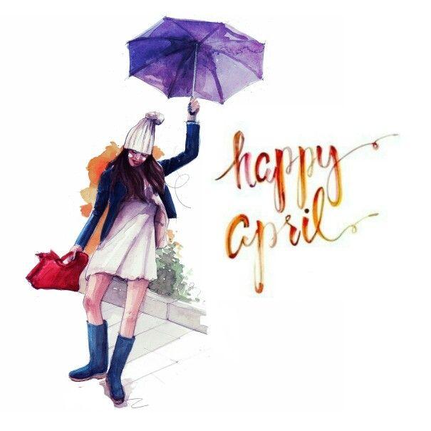 Happy april! Fashion illustration by Pinodesk #pinodesk #watercolorfully #fashionblogger #fashionillustration