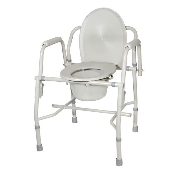 Click Twice For Updated Pricing And More Info Drive Medical Drop Arm Commodes Steel Drop Arm Bedside Commode With Padde Bedside Commode Commode Toilet Seat