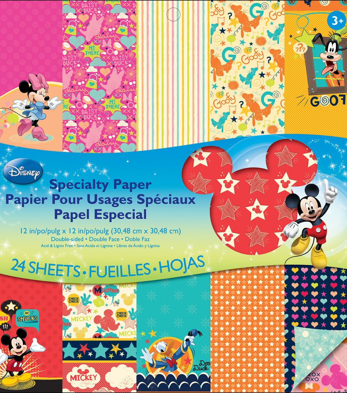 EK Success Disney Double - Sided Specialty Paper Pad Mickey Family ...