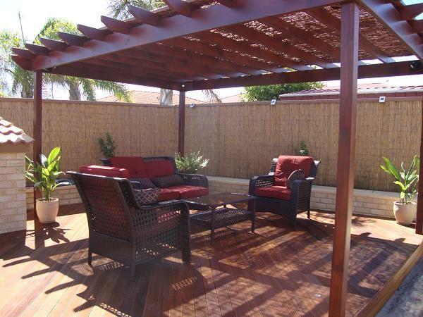 Pergola With Reed Roof Pergola Backyard Patio Backyard Oasis
