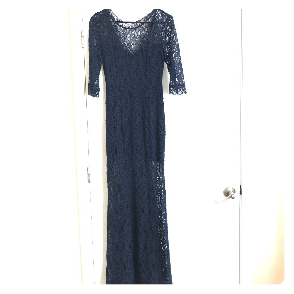 Navy blue lace dress products