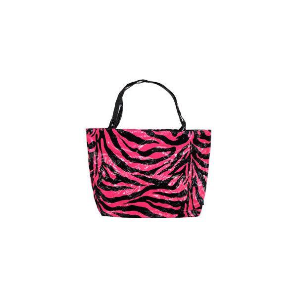 Zebra Print PVC Shopper Bag (Black/Pink) | Blue Banana - Alternative... (60 NOK) ❤ liked on Polyvore featuring bags, handbags, tote bags, bolsas, purses, zebra, pink purse, pink tote bag, zebra tote bag and pink zebra purse