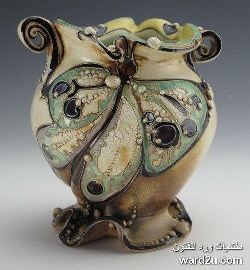 زخارف نباتية خزفيات رائعة للفنانة Carol Long الصفحة 3 Pottery Art Porcelain Art Ceramic Art