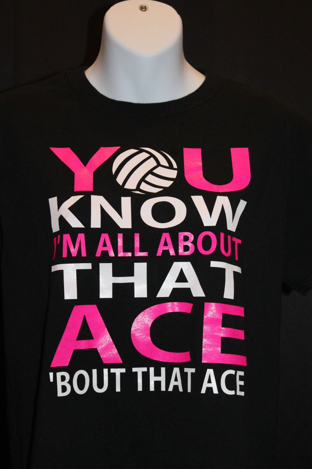 Volleyball Shirt You Know I 39 M All About That Ace 39 Bout That Ace Volleyball Shirt Womens Funny Volleyball Shirts Volleyball Shirts Volleyball Tshirts