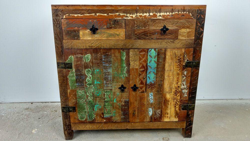 Unikat Sideboard Kommode 85 Cm Recycelt Massivholz Massiv Holz