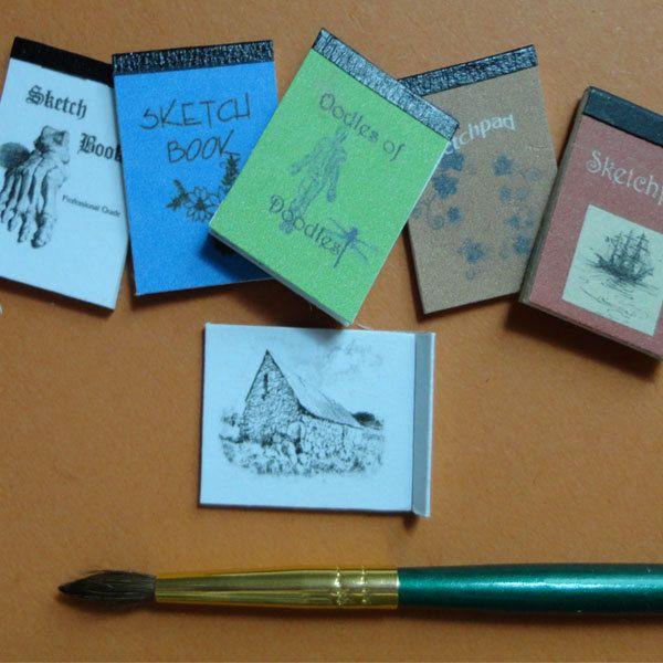 Sketchpad Kit, Dollhouse Miniature DIY Kit by MiniBOK on Etsy, $5.00