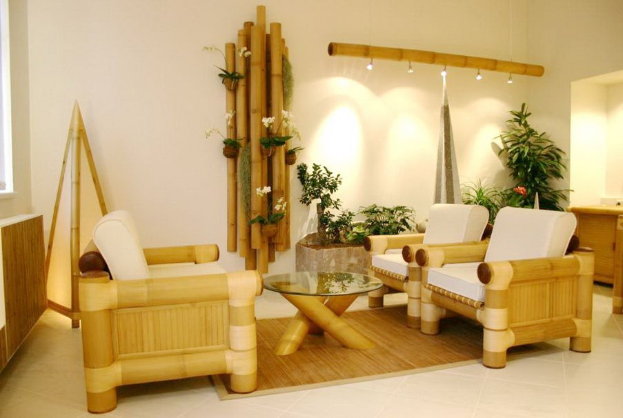 amazing design of bamboo living room furniture | living room