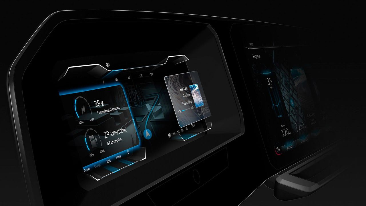Auto cockpit vw  VW digital cockpit concept has a 3D instrument cluster_CES 2017 ...
