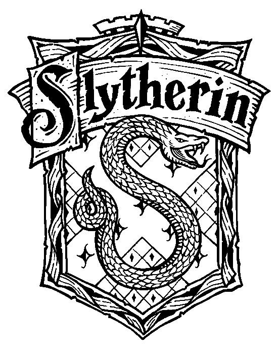 gryffindor coloring pages - harry potter hogwarts slytherin crest diy harry potter
