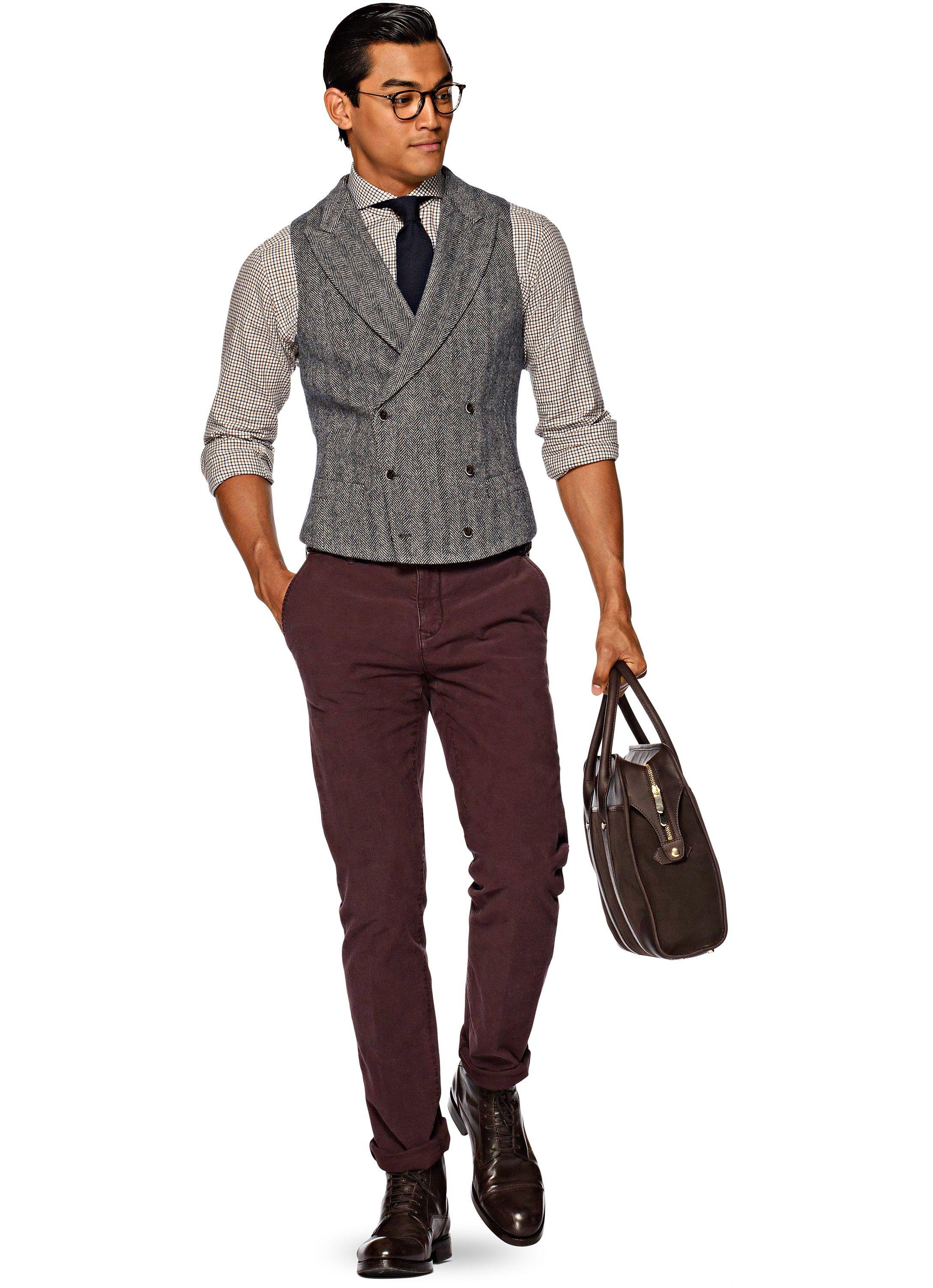 Blue Waistcoat W150211 Mens Outfits Mens Fashion Suits Smart Casual Men