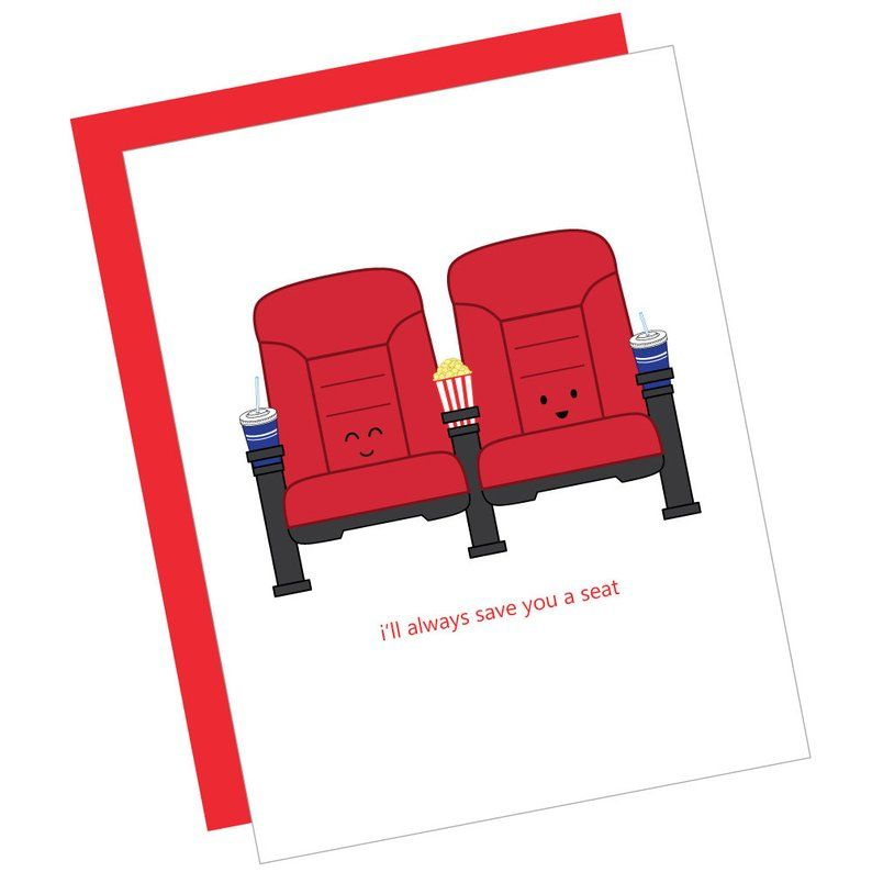 I Ll Always Save You A Seat Card Cute Cartoon Funny Pun Etsy Funny Puns Funny Cartoons Puns