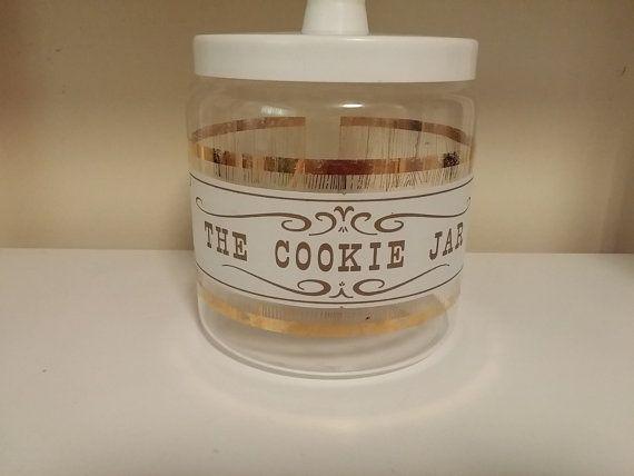 Vintage Pyrex Glass The Cookie Jar  Jar W/ Lid by Dirty30Vintage
