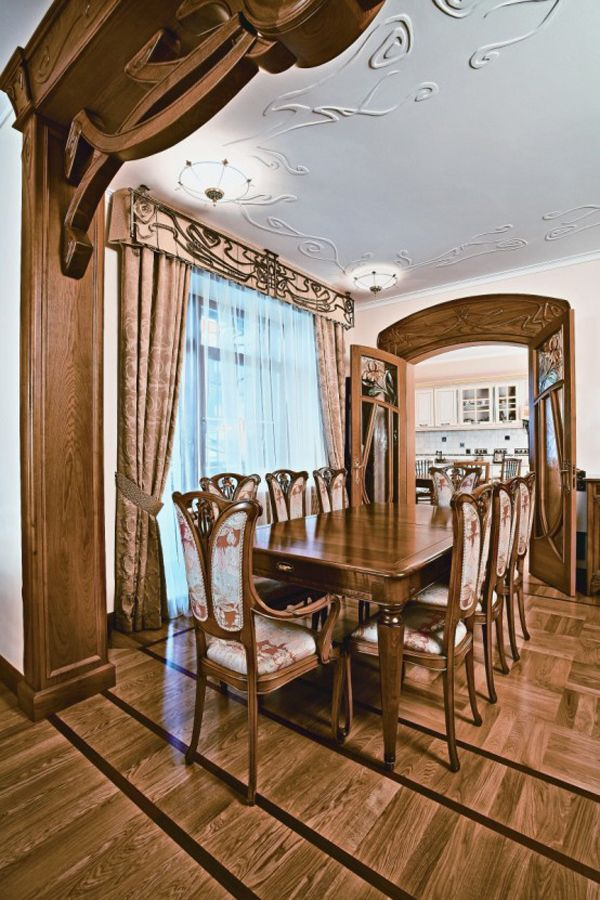 Art Nouveau Dining Room In An Apprtment Moscow