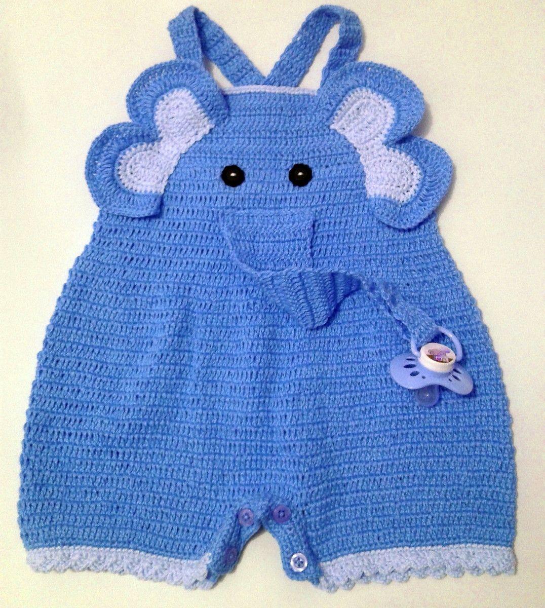 macacão de bebê   elefantinho AZUL   Arte com Linhas Babyy   Elo7 ... bf81456e84