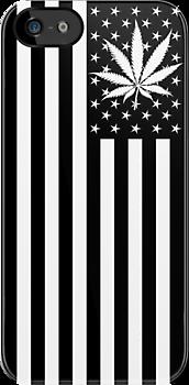 United States of #Marijuana Flag - Black & White by hilounge #art #420 #design