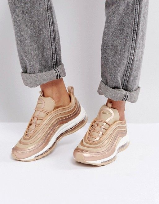 Nike Air Max 97 Trainers In Metallic Cashmere Pinterest Fashion