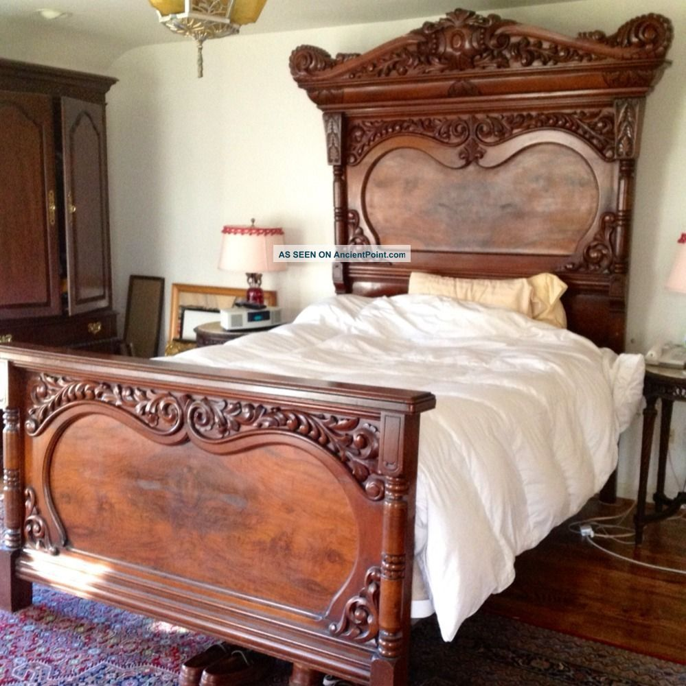 Antique Victorian Beds | Antique Victorian Style Bed (lincoln) Full ...