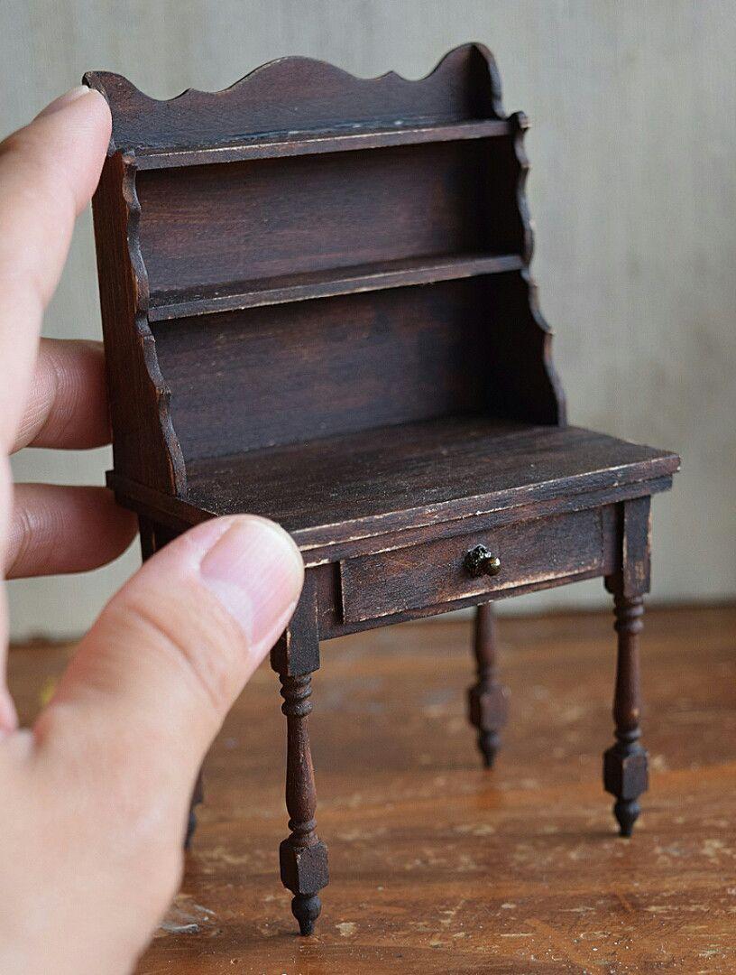 Easy Peasy DIY...Homeworks Stair posts fo legs. #miniaturefurniture