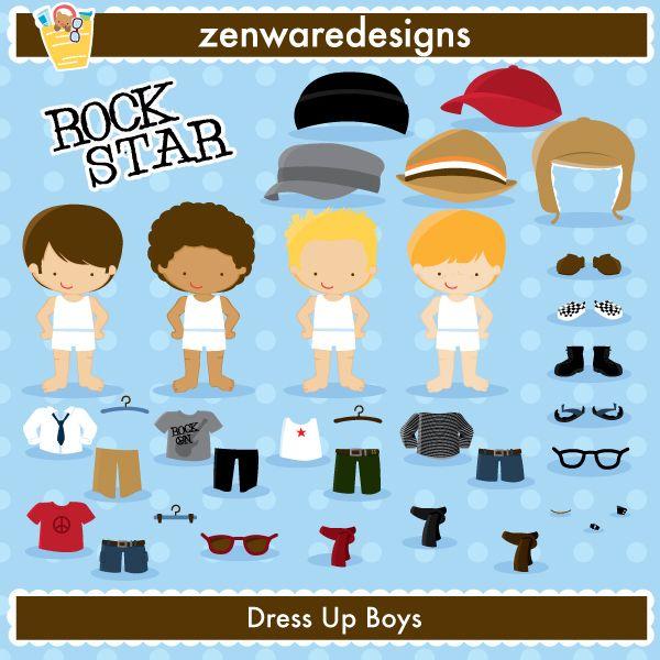 OWN - Dress Up Boys | zenware | Pinterest | Clip art, Scrap and ...