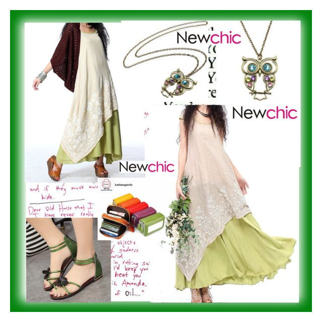 """NewChic.com"" by alma-ja ❤ liked on Polyvore featuring vintage"