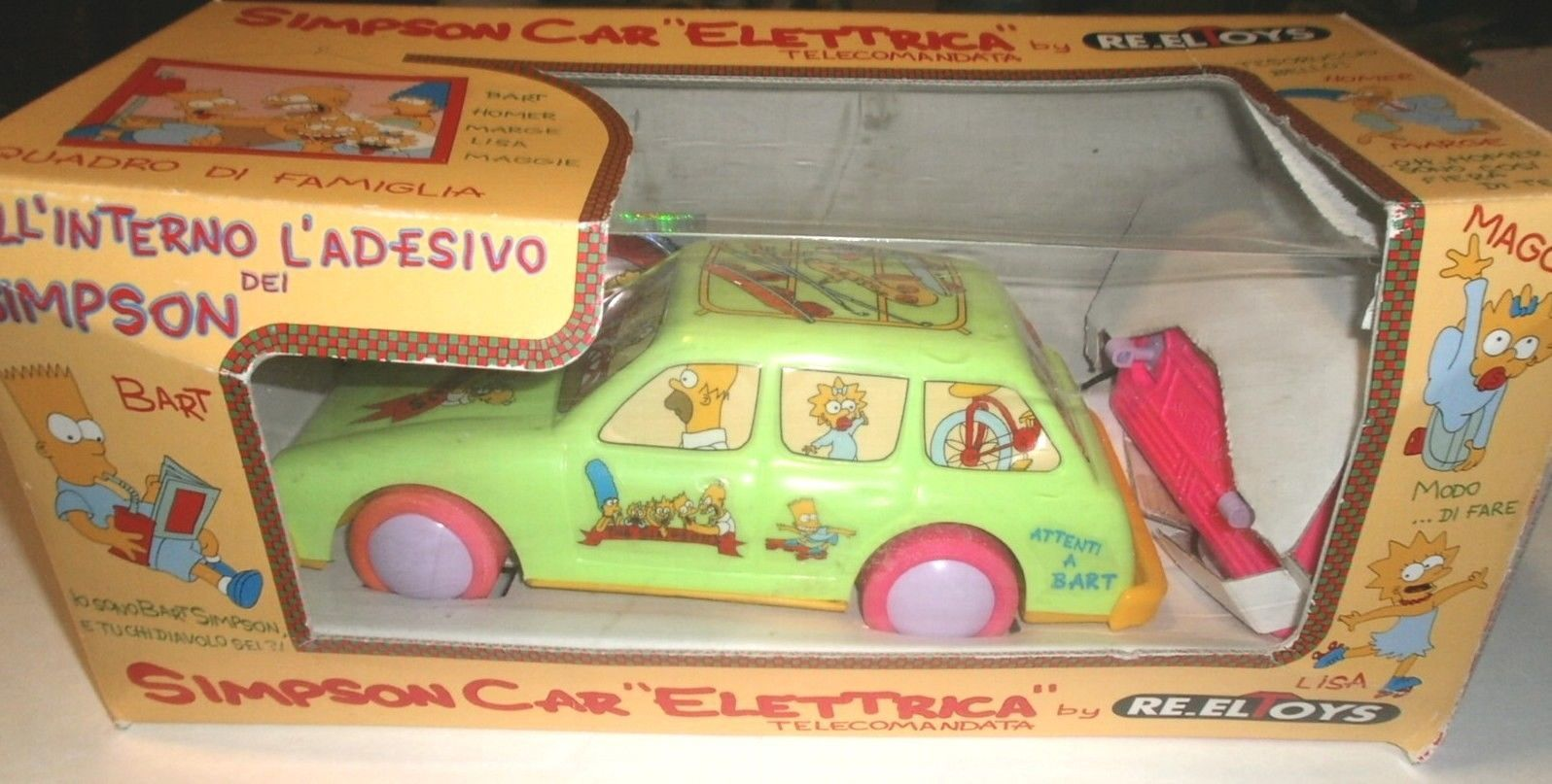 The Simpsons Electric Toy Rc Car Elettrica Re Eltoys Italy Rare Collectible Ebay