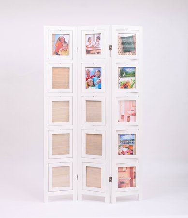 Amazon.com - Double Sided Photo Frames Room Divider White - Panel Screens