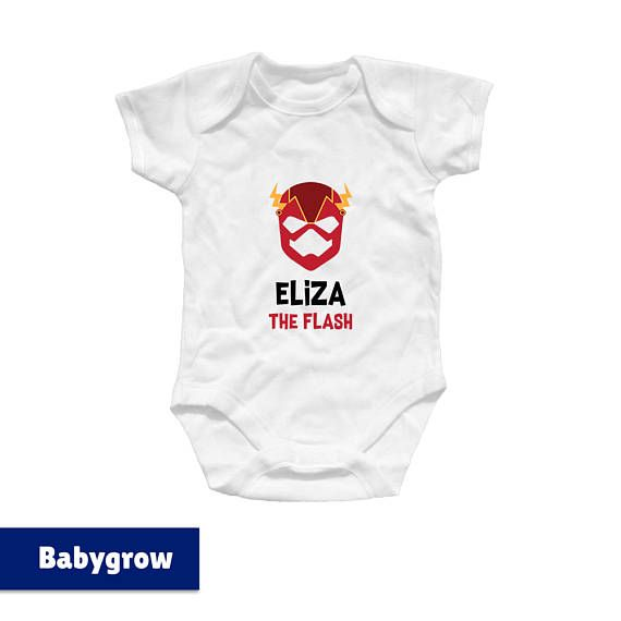 Personalised The Flash Superhero Family T Shirts Dc Comics Baby