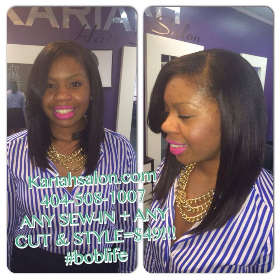 Bob Sew In Only At Kariah Salon 100 Human Hair Sewin Weave Sew