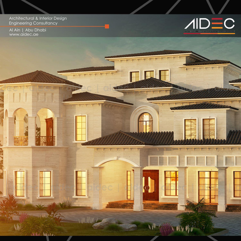 Proposed Residential Villa Location: Abu Dhabi Description:  Spanish/Andalusi Design .