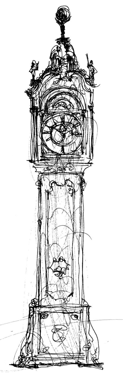 grandfather clock drawing. gothic grandfather clock drawing 1000 ideas about s