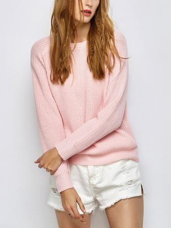 Chunky Back Zipper Jumper Sweater