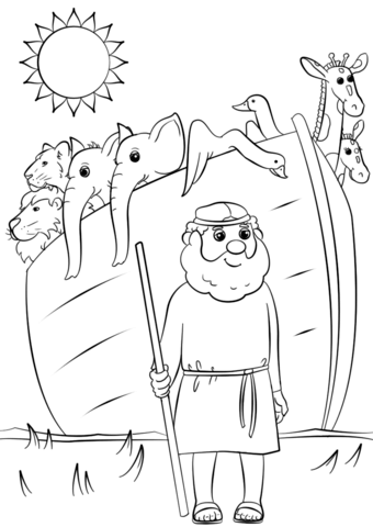 Noah's Ark Animals Two by Two coloring page from Noah's