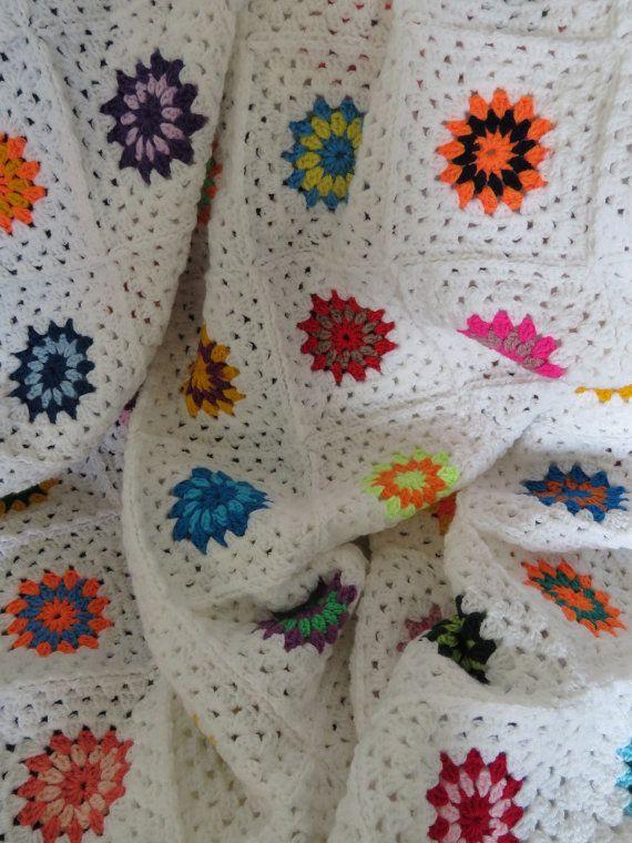 White Throw Blanket Colorful Throw Blanket 50 x by Phoenixsmiles ...