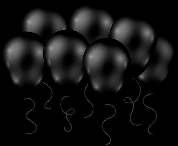 Black Balloons Transparent Png Clip Art Image Black Balloons Balloons Birthday Photo Frame
