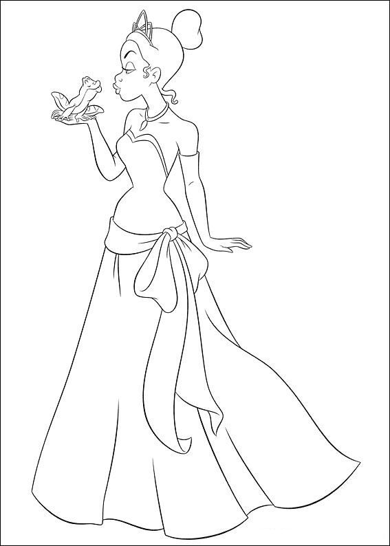 coloring page Princess and the Frog - Princess and the Frog