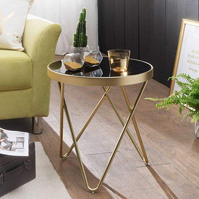 Affiliatelink Finebuy Design Couchtisch Round Mini O 42 Cm Rund Glas Kupfer Lounge Beistelltisch Verspiegel Wohnzimmertisch Glastische Design Beistelltisch