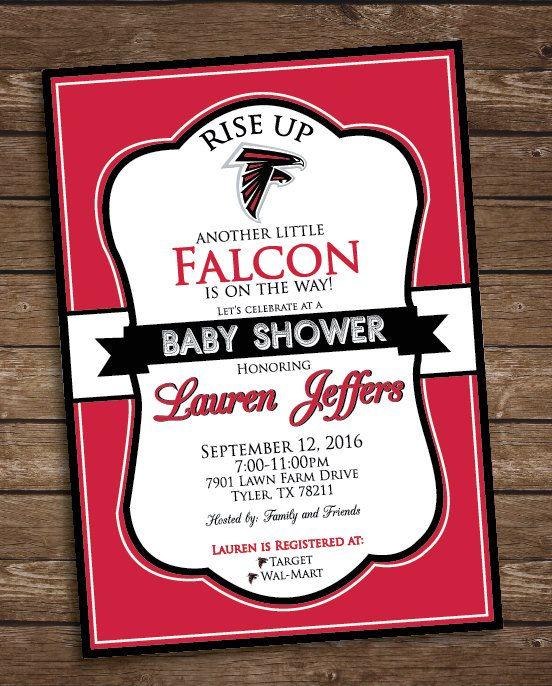 official photos 6f83b f5ce0 Atlanta Falcons baby shower invitation | Invitations in 2019 ...